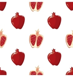 Red pomegranate seamless background vector