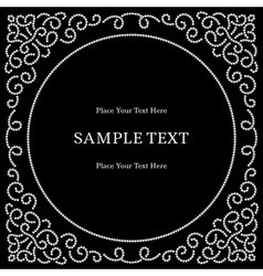 Dotterd jewelry frame vector image