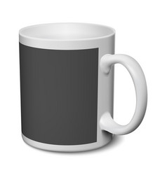 Gray and black mug realistic 3d mockup on a white vector