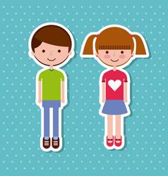 Kids sticker design vector