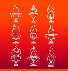 Goblet of fire vector