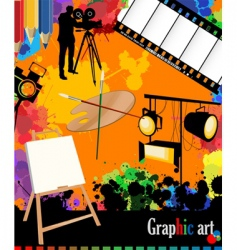 graphic arts layout vector image
