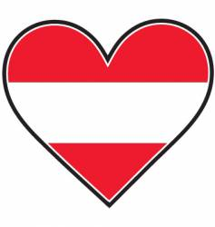 Austria heart flag vector