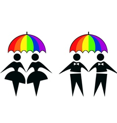 Gay couples vector