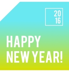 Square new year design with gradient background vector
