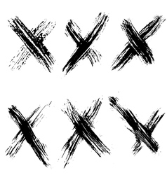 Rejected sign set vector image