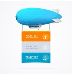 Dirigible menu concept vector