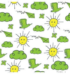 Summer pattern green yellow vector