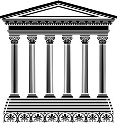 Greec temple vector image