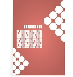 White and red background for brochure or cover vector