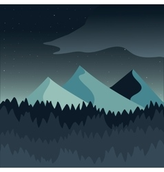 Green mountain landscape vector