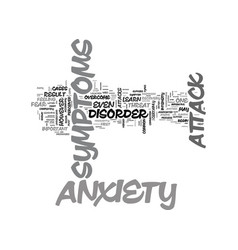 Anxiety attack heart problems text word cloud vector