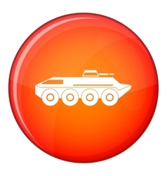 Armored personnel carrier icon flat style vector