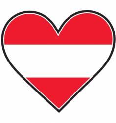austria heart flag vector image vector image
