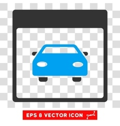 Automobile car calendar page eps icon vector