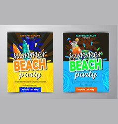 Beach party flyer vector
