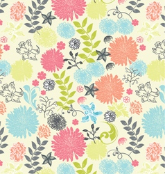 Beautiful a seamless pattern floral vector image vector image
