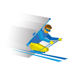 biathlon for athletes with a disability vector image vector image