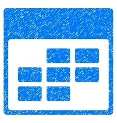 Calendar month grid grainy texture icon vector