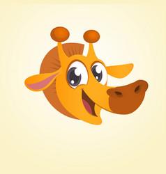 cartoon giraffe head icon vector image vector image