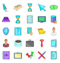 Compartment icons set cartoon style vector