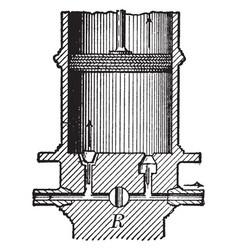 condensing pump vintage vector image vector image