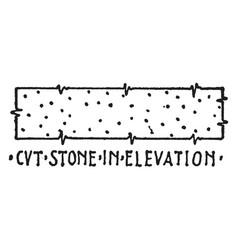 Cvt stone in elevation material symbol deep vector