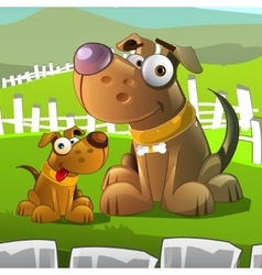 Dogs characters vector image vector image