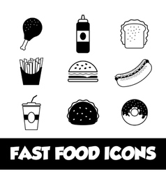 Fast food icon design vector