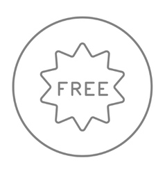 Free tag line icon vector image vector image