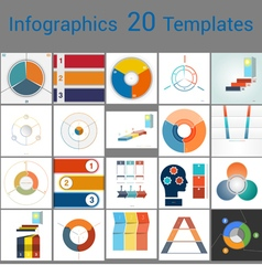 Infographics 20 templates text area 3 positions vector