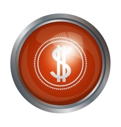 Isolated coin design vector image