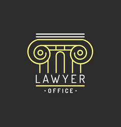law office logo vintage attorney advocate vector image vector image