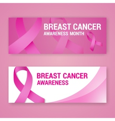 National breast cancer awareness banner vector image vector image