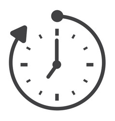 Overtime solid icon business and clock vector