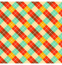pattern with color rombuses vector image vector image
