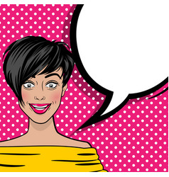 Pop art cartoon comic sexy woman empty bubble vector