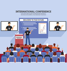 Presentation conference hall composition vector