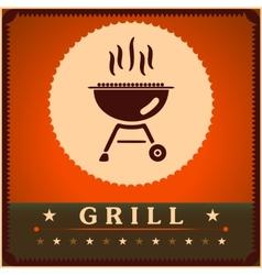 Retro grill menu card design template poster vector
