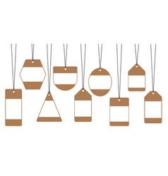Sale tags labels discounts vector