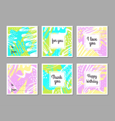 set of creative universal abstract art posters vector image vector image