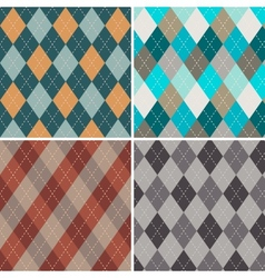 Set of seamless argyle patterns vector image vector image