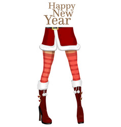 Sexy female legs in the winter boots vector