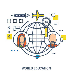 World education - concept vector