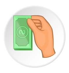Arm with bill icon flat style vector image