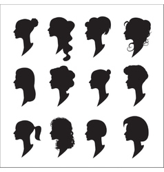 Female profiles vector