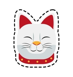 Isolated cat of china design vector