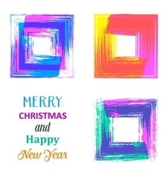 Creative merry christmas card vector