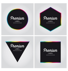 premium logo label set vector image
