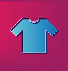 T-shirt sign   blue 3d printed vector